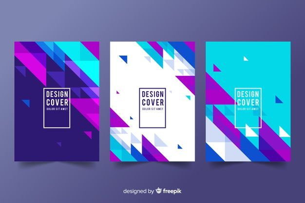 Design cover templates with geometric sh  Premium Vector