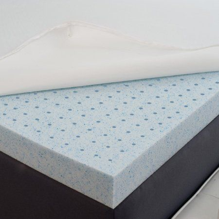 Amazon Com Sleep Joy 2 Gel Memory Foam Mattress Topper Made With Biofresh 5 Yea Memory Foam Mattress Topper Gel Memory Foam Mattress Foam Mattress Topper
