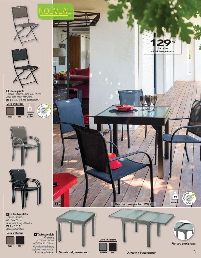 Catalogue Hespéride Jardin d\'exception Mars 2014 > Table extensible ...