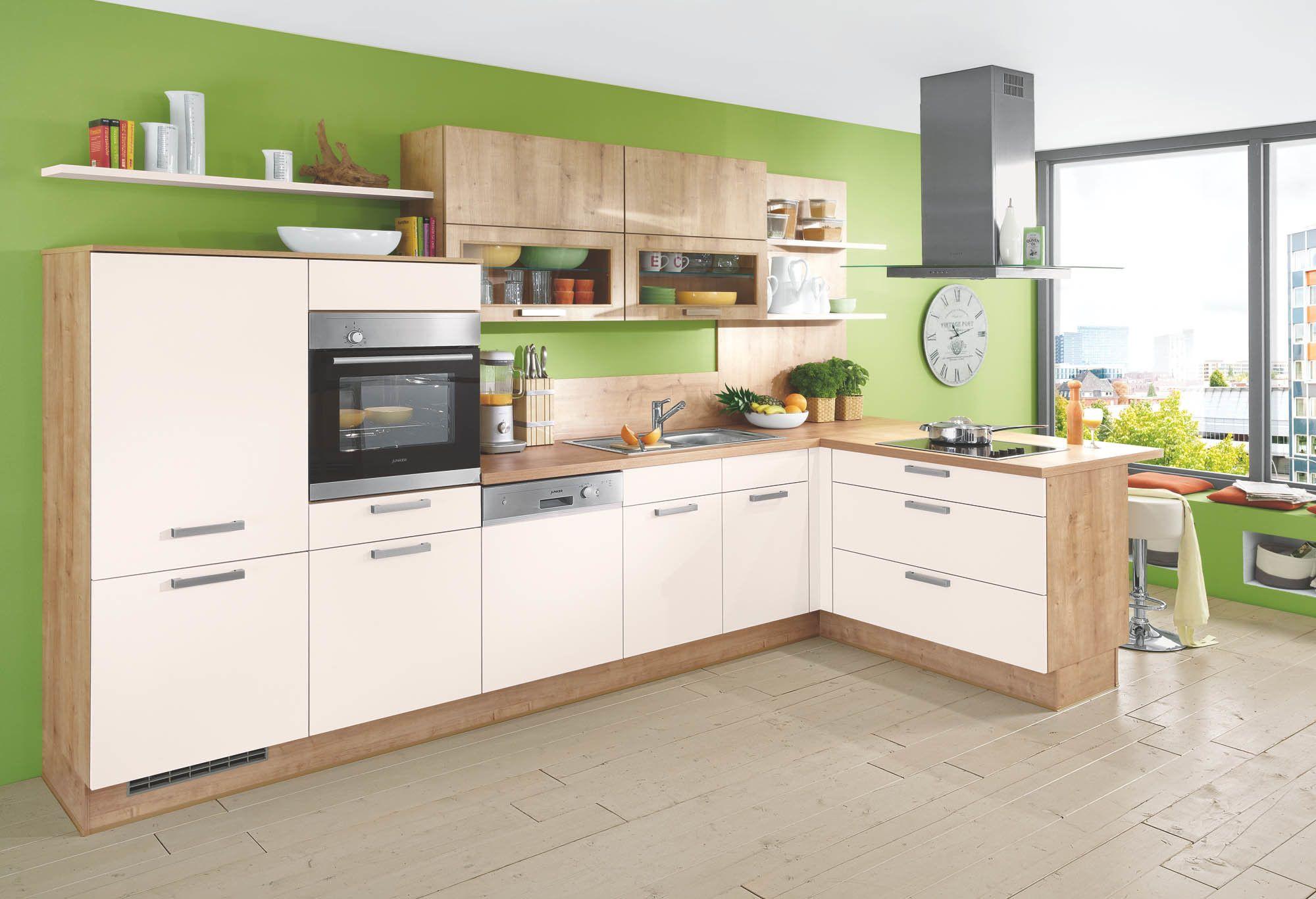 L Küche Magnolie Eiche Lack - für nur 16.- Hochwertige Küchen