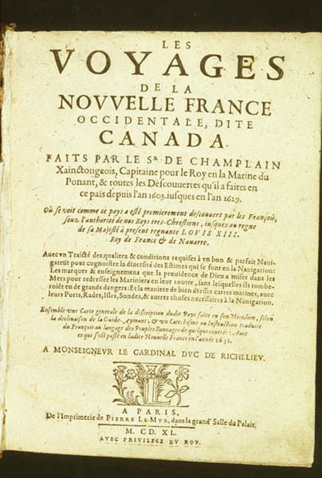 voyages de la nouvelle france  1640  toronto reference library