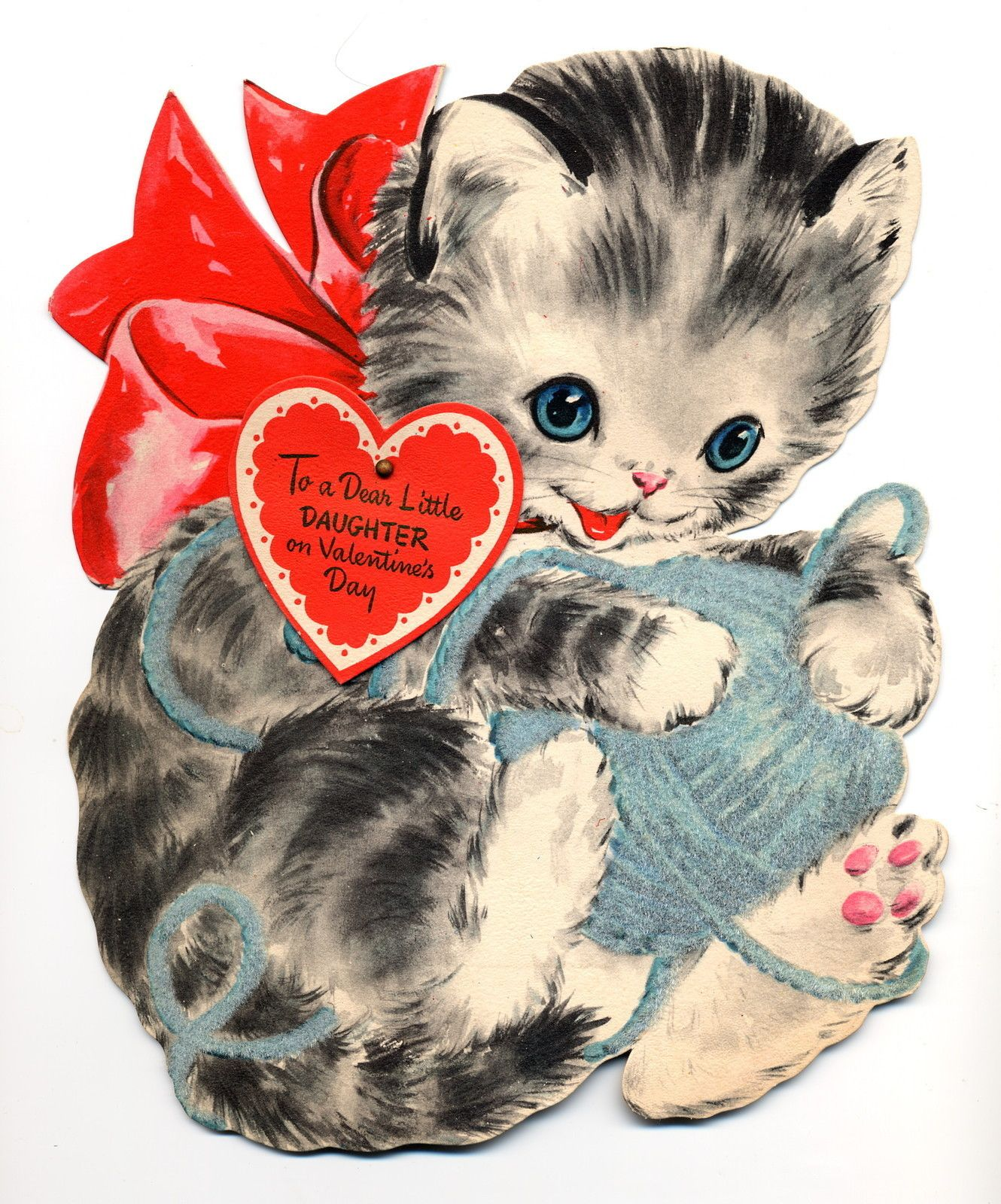 1948 Hallmark Valentine Cat Valentines Illustration Vintage Illustration Vintage Cat