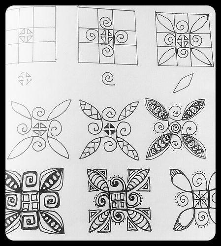 Zentangle Patterns Step By Step Zentangle Patterns Zendala