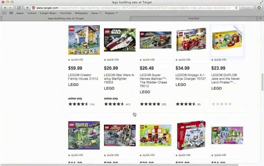 Lego shopping act one broadband math tasks act math