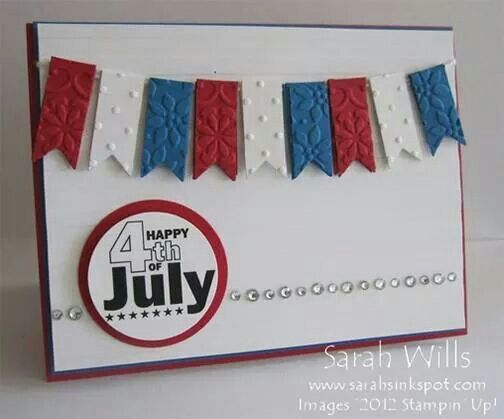 Independence Day Fourth Of July Holiday Cards Valentine Easy