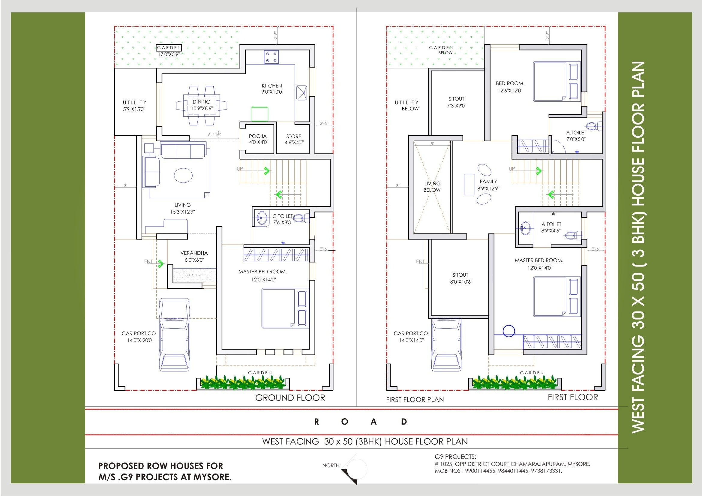 House Plan West Facing Plans 45degreesdesign Com Amazing 50 X West Facing House Budget House Plans Indian House Plans