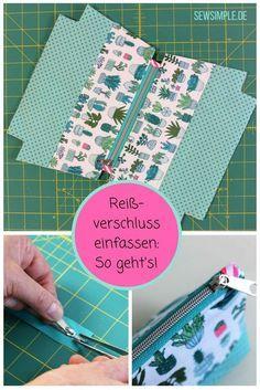 Hacer ribetes y coser cremalleras de forma sencilla  – Bolsa