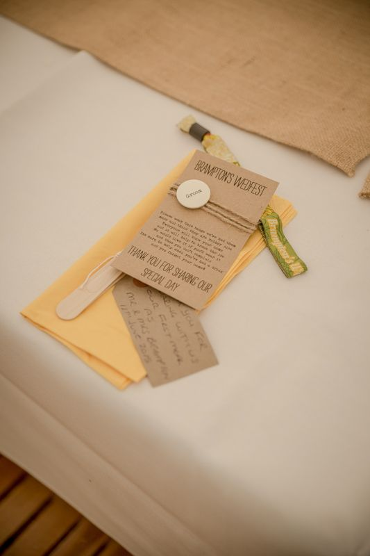 Peter and Vicky's Brampton Weding Festival - Wristband Wedding Favours