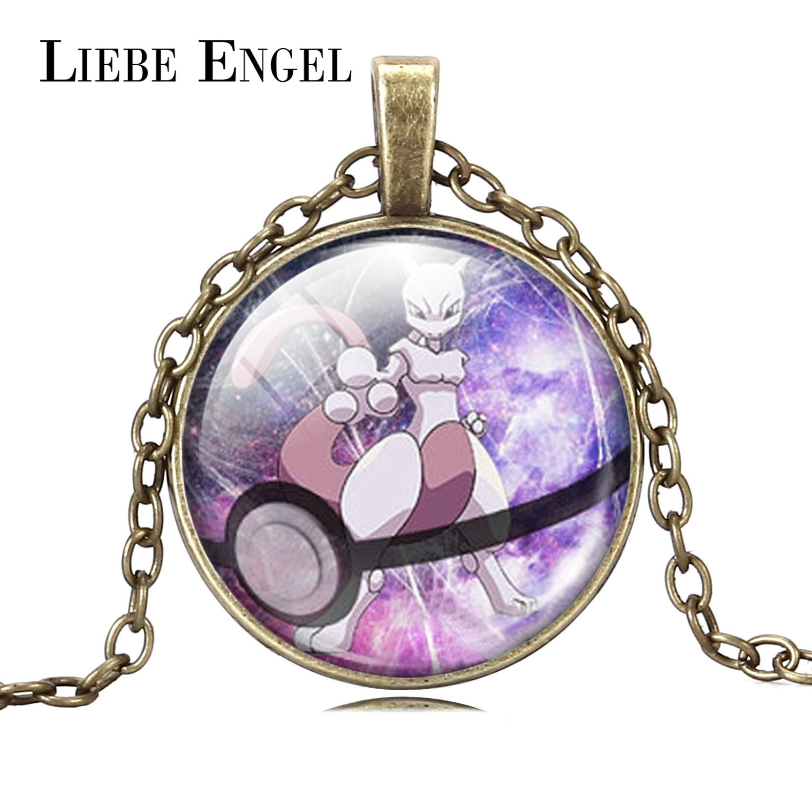 Find More Pendant Necklaces Information about LIEBE ENGEL Wholesale Pokeball Mewtwo Pokemon Necklace Glass Cabochon Pendant Necklace Fashion Jewelry For Women And Men Gift,High Quality necklace costume jewelry,China jewelry necklace holder Suppliers, Cheap necklace dragon from LIEBE ENGEL Official Store on Aliexpress.com