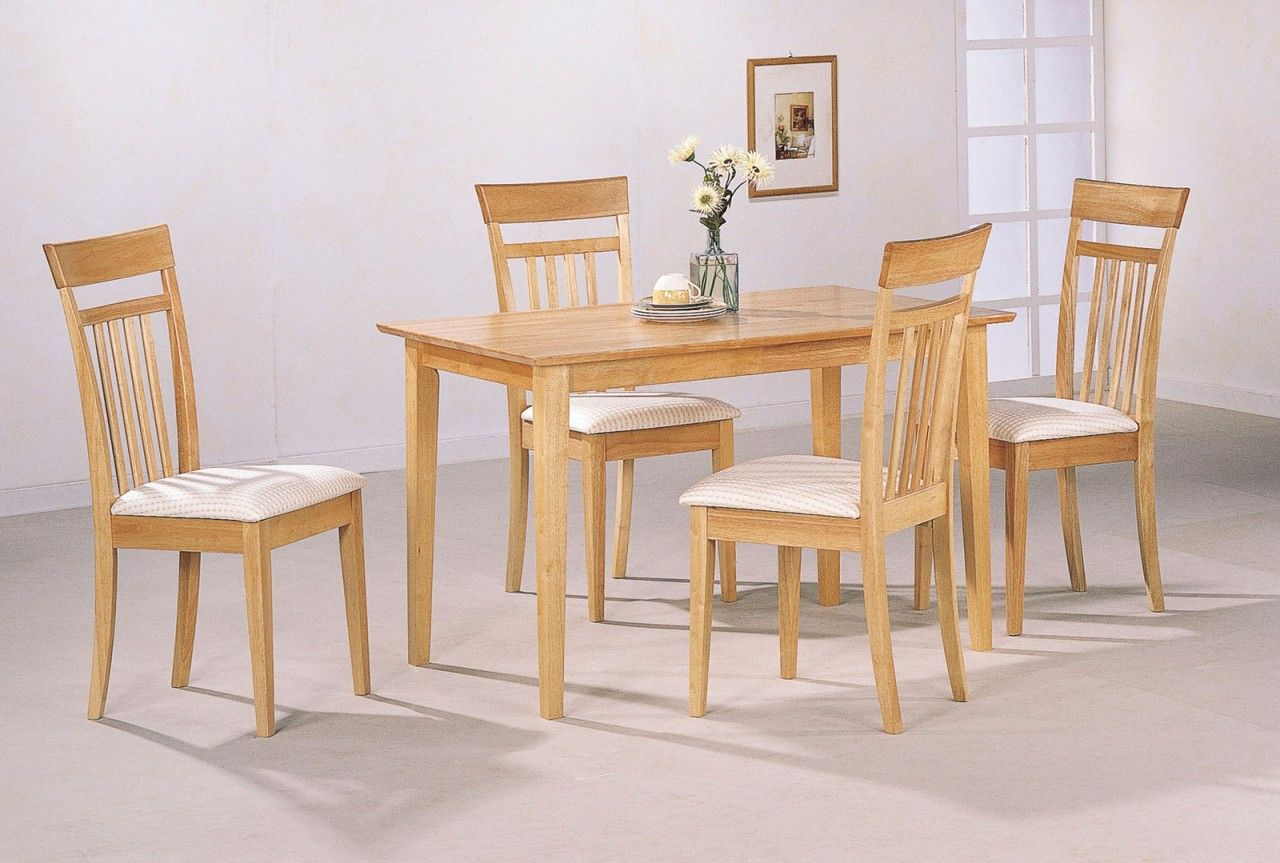 Coaster 5pc Dining Set In Maple 4067 Kitchen Table Settings Dining Room Sets Dining Chairs