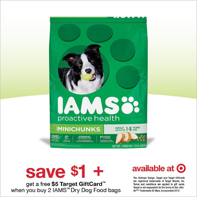 Iams Dry Dog Food Deal At Target Dog Food Recipes Dry Dog Food