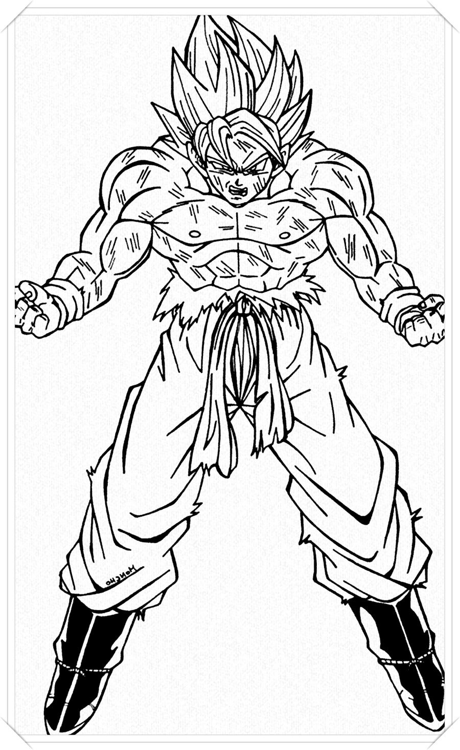 Dibujos De Goku Para Colorear Dragon Ball Super Sketches Goku