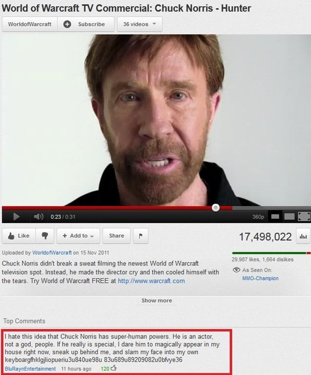 Funny Comments  C B Super Whisper Collection Chuck Norris