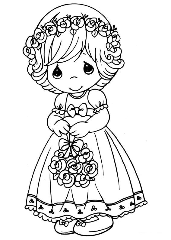 Precious Moments Coloring Pages Printbale Jpg 567 794 Pixels