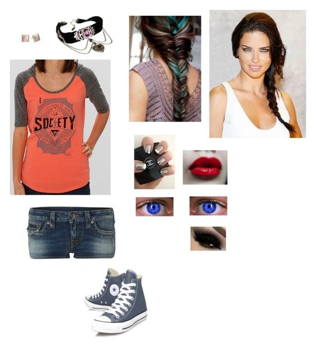 """""""Untitled #60"""" by alenamacys ❤ liked on Polyvore featuring True Religion, Society, Converse and Michael Kors"""