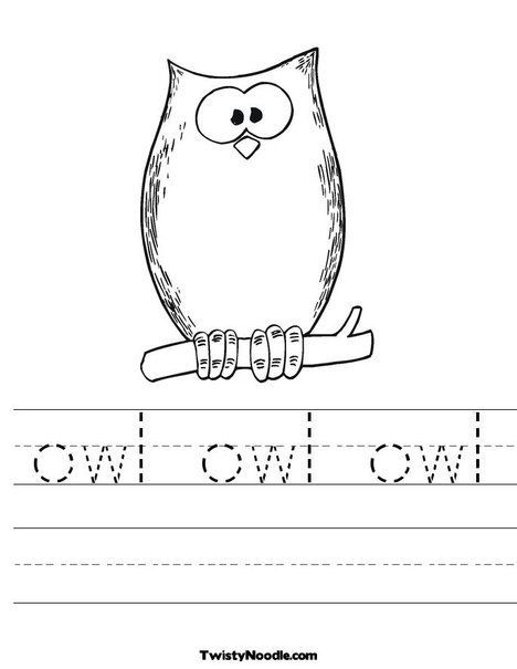 Free Printable Owl Worksheets