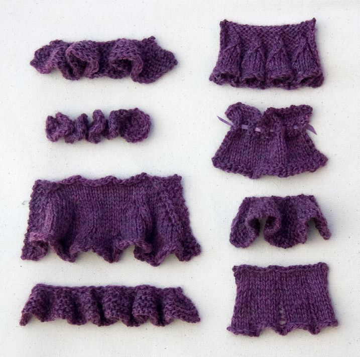 Knitting Gathered Stitches : how to knit ruffles: Basic Top Down Ruffle Bell Ruffle Gathered Eyelet Ruffle...