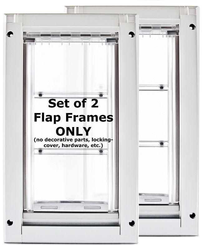Patio Pacific 03ppk06 Endura Flap 2eSmall Kennel Door   White Frame, Single  Flap, Case Of 2
