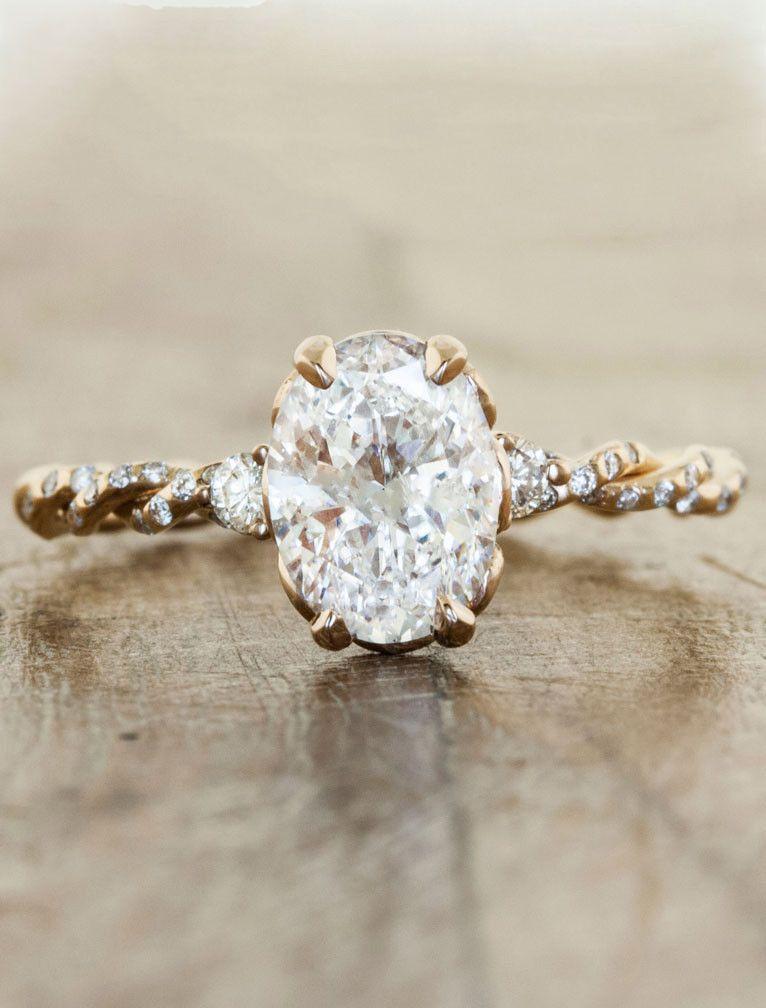 simple rose gold engagement rings Wallpaper