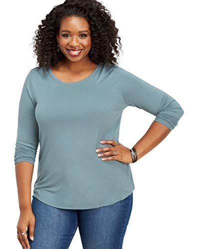 ded9d8562a4 maurices Women s Plus Size 24 7 Long Sleeve Basic Tee 1 Ocean Stone ...