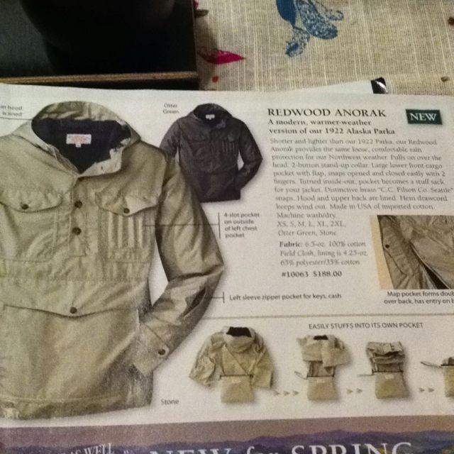d78033526 Filson redwood anorak | My Style | Military jacket, Jackets, Fashion