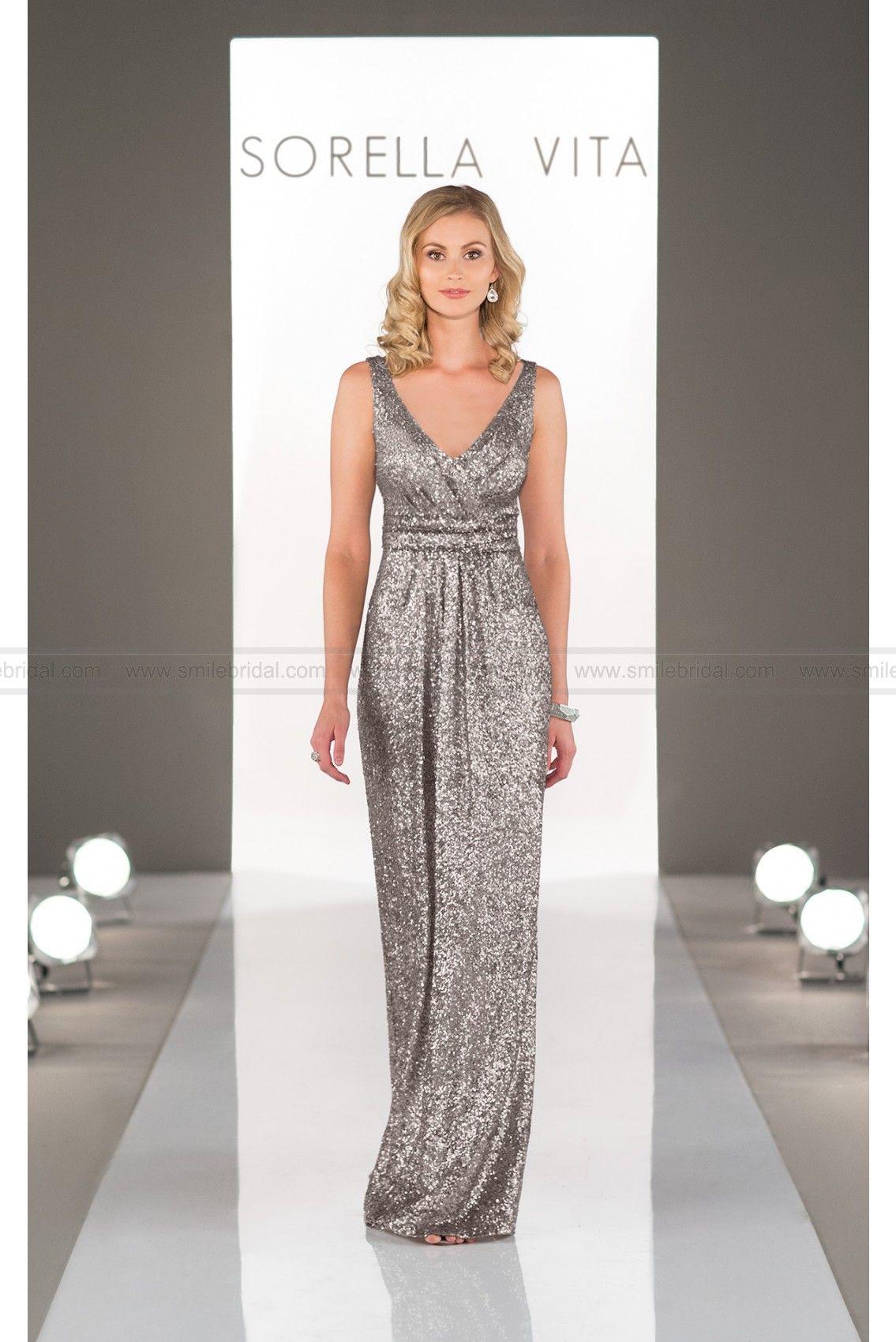 236959b0db4 Sorella Vita Platinum Bridesmaid Dress Style 8686 (Include Crown ...