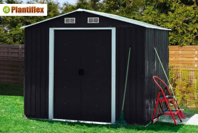buy plantiflex garden shed 3 sizes 2 colours uk deal for just - Garden Sheds 6 X 2