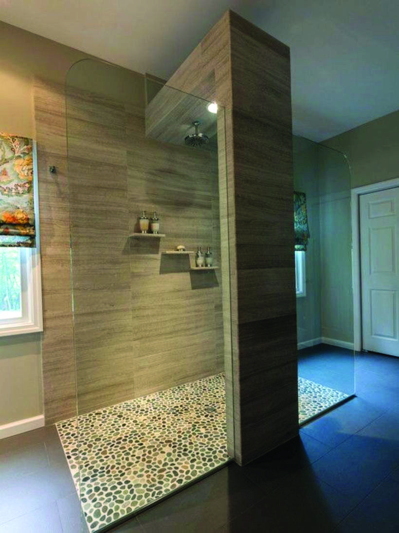 19 Wonderful Ideas for Showers Without Doors (With images ...