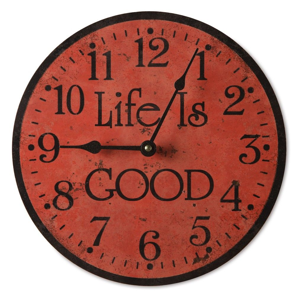 Life is good with this traditionally designed country kitchen clock.