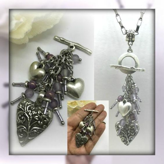 Floral heart interchangeable beaded pendant necklace 1476d floral heart interchangeable beaded pendant necklace 1476d aloadofball Choice Image