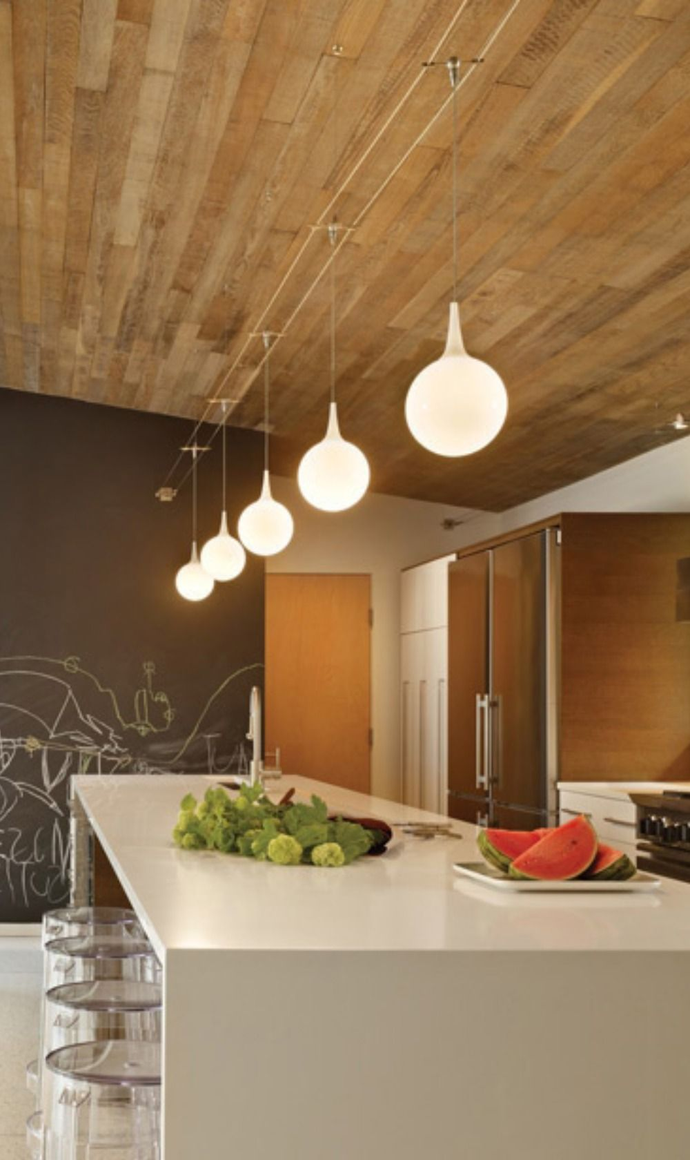 Pele Monopoint Pendant By Tech Lighting 700mppelws In 2020 Wooden Ceilings Contemporary Interior Design Modern Spaces