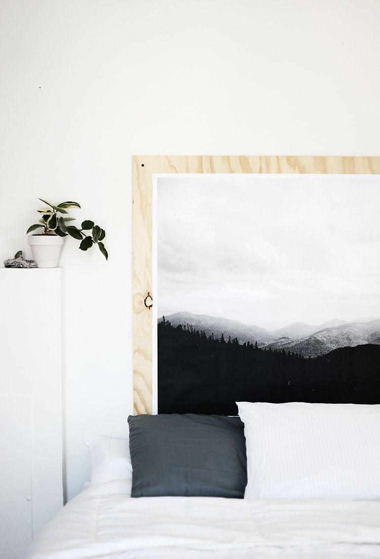 DIY Plywood Print Headboard DIY Plywood Print