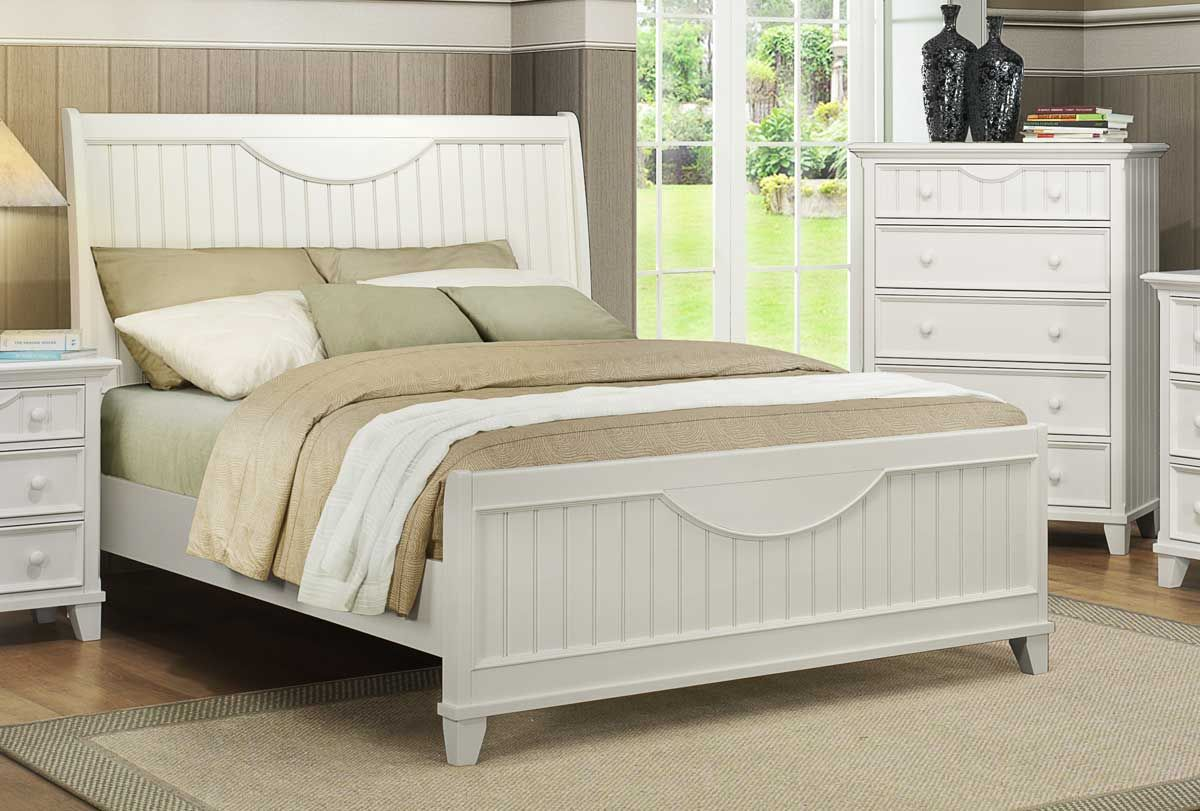 Alyssa Bed White Homelegance Queen sized bedroom