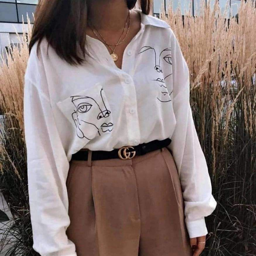Photo of ART FACE BLOUSE