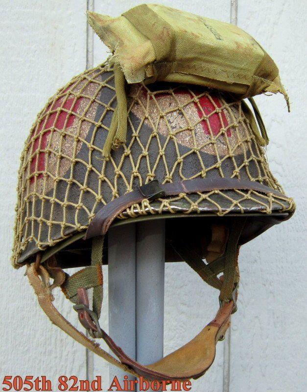 Wwii m2 us airborne helmet medic front seam firestone for Equipement resto plus