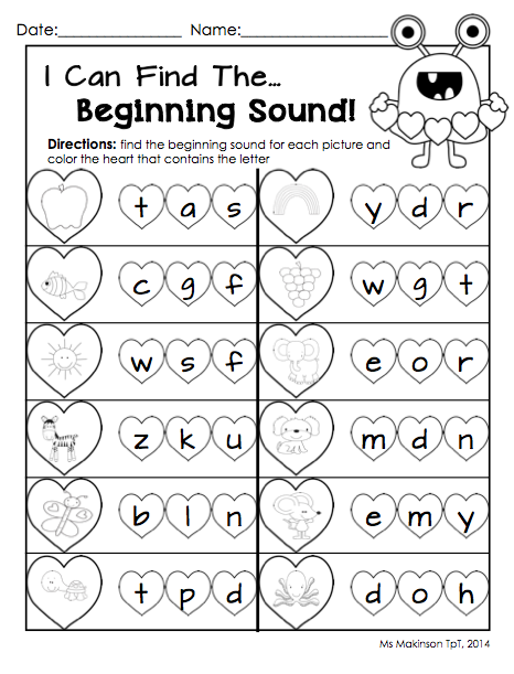 february printables kindergarten literacy and math vpk class kindergarten literacy. Black Bedroom Furniture Sets. Home Design Ideas