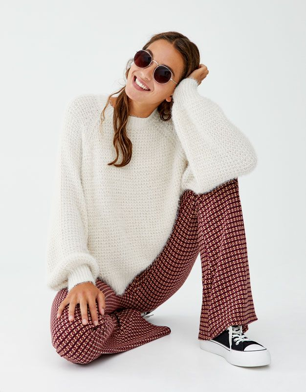 clearance prices super popular look good shoes sale Coloured fuzzy sweater - PULL&BEAR | HOL 19 SO | Sweaters ...