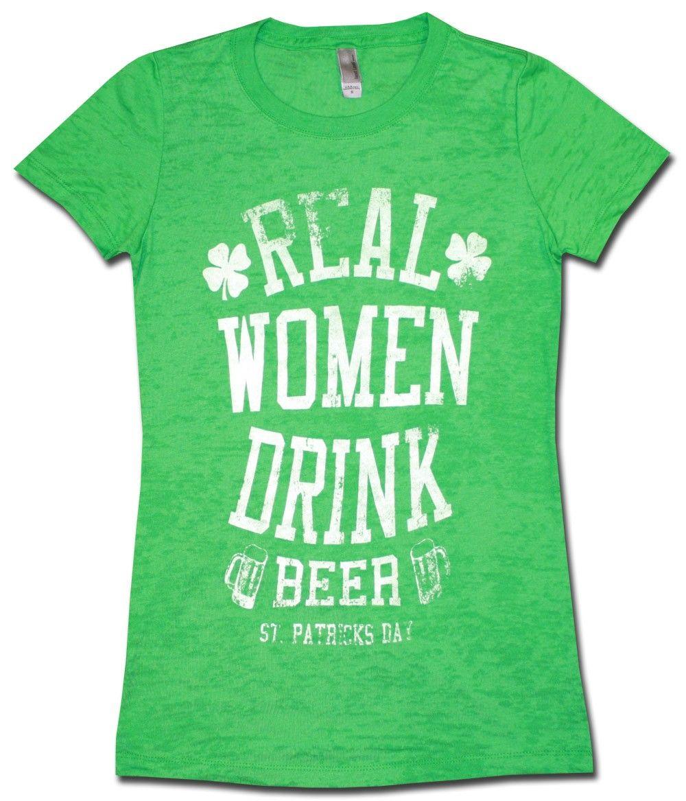 St. Patricks Women s Babydoll Real Women Burnout 2c5406f151