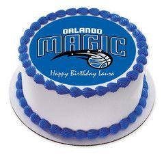 Tremendous Orlando Magic Edible Birthday Cake Topper Or Cupcake Topper Decor Funny Birthday Cards Online Elaedamsfinfo