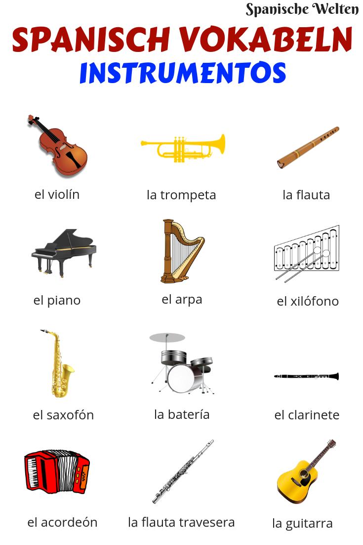 Spanisch Vokabeln: Instrumente #learning