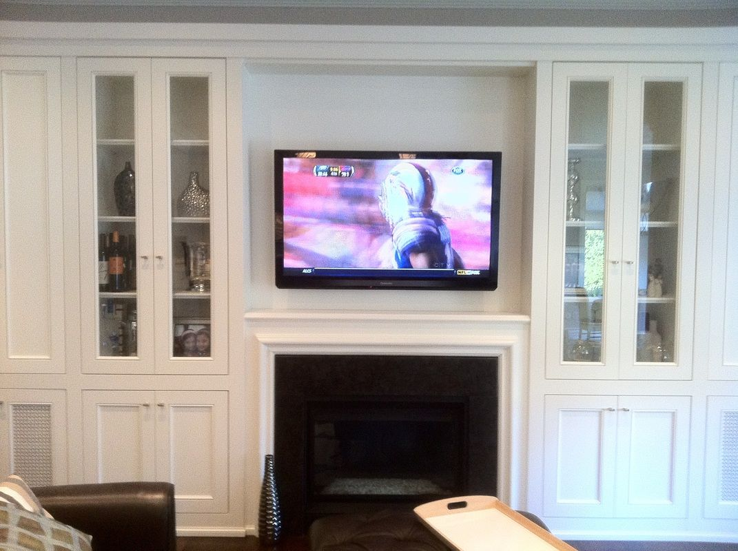Fireplace wall and Corner fireplace tv stand
