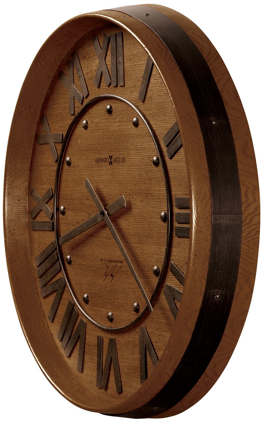 Wine Barrel Wall Clock 25 25 29 Wall Clocks Espejos