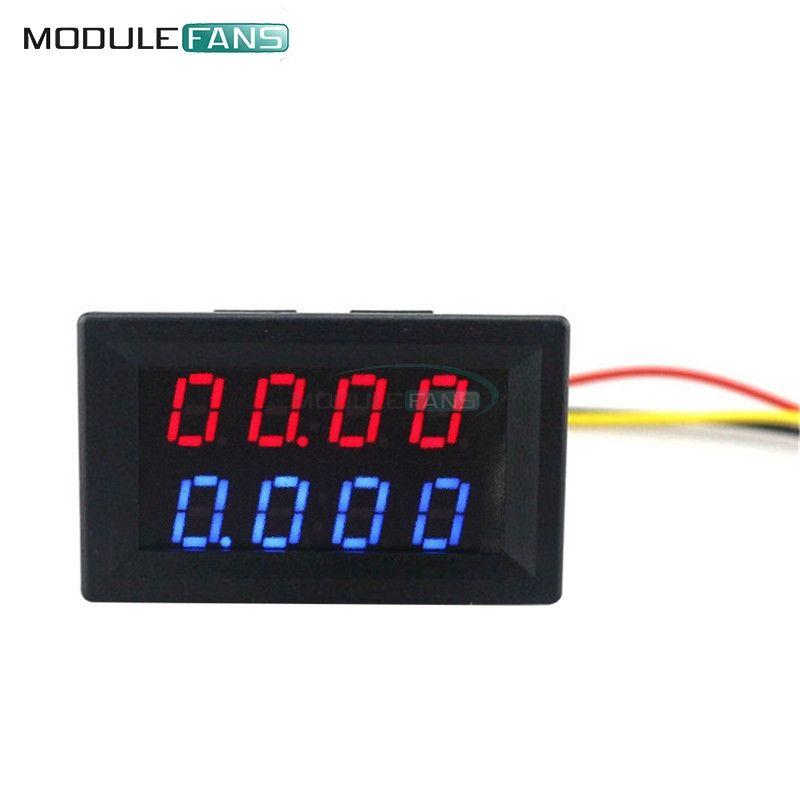 Rot Blau Dual Digital LED AMP Display DC Voltmeter Amperemeter 4 Bit ...