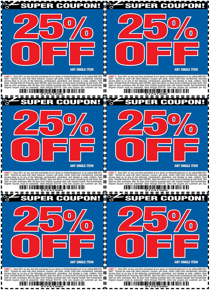 Harbor Freight 25 Off Coupon Harborfreight Com Harbor Freight Tools Harbor Freight Coupon Coupons