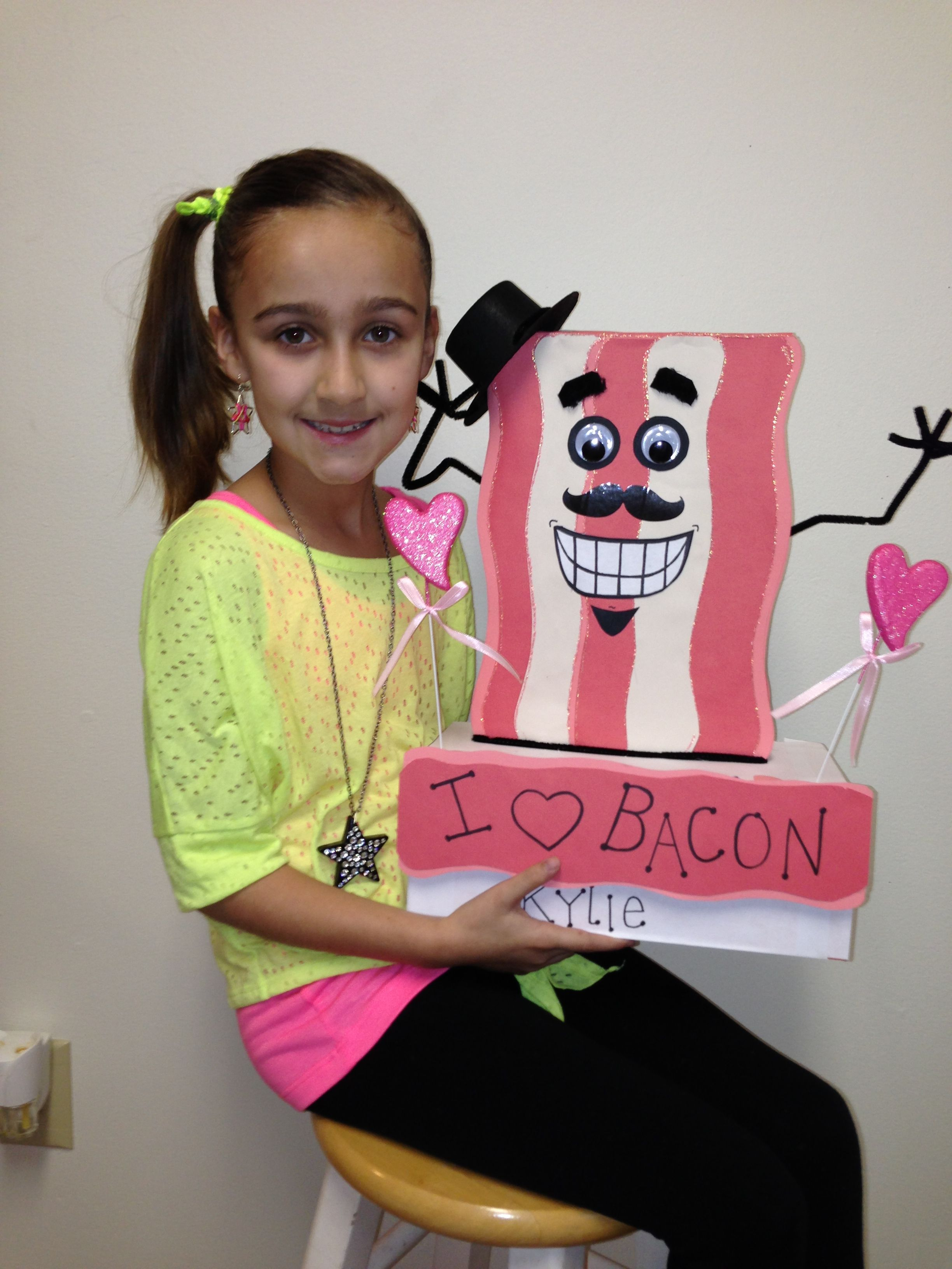 The original Bacon Valentines Day box, lol. The idea of a third grader.