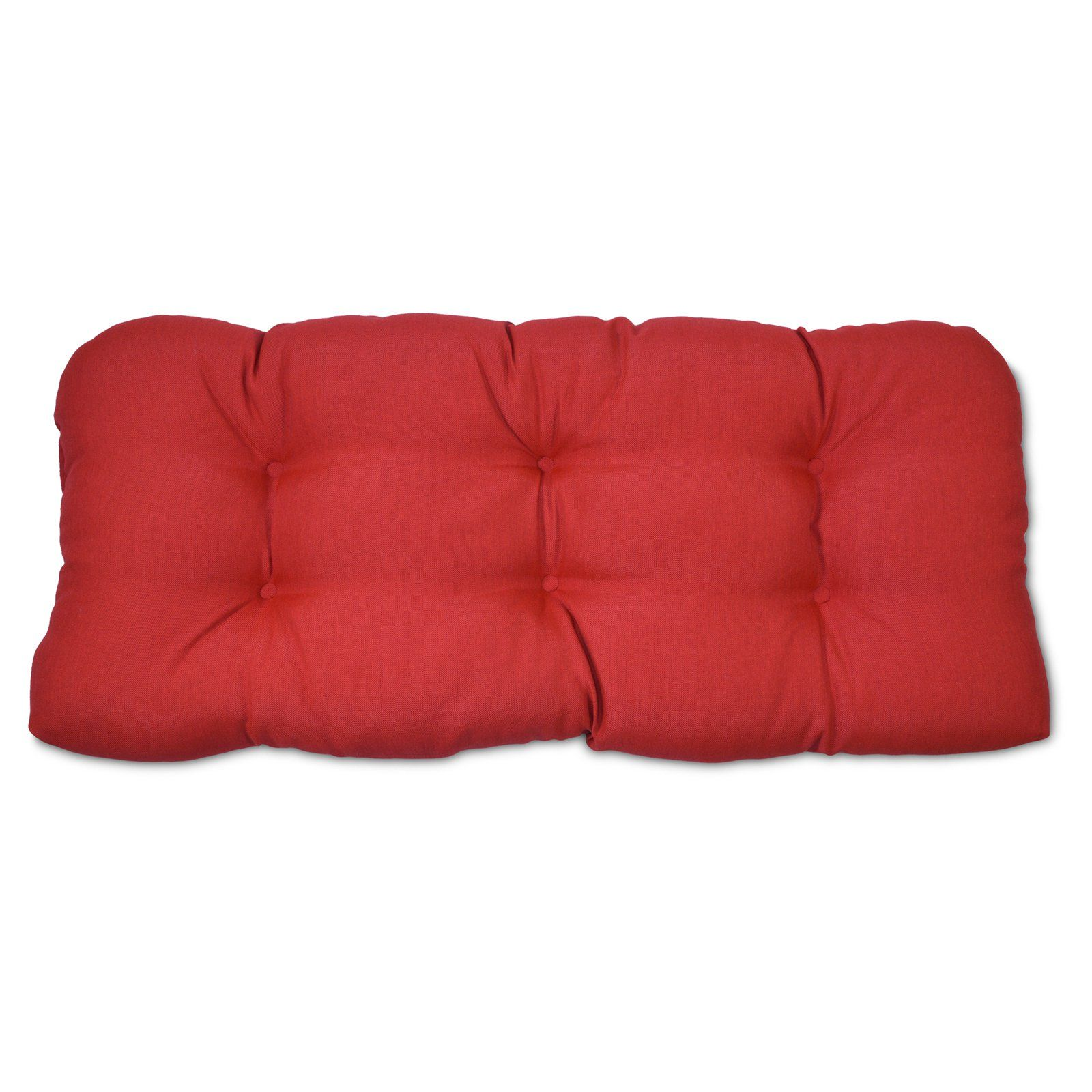 Plantation Patterns Tufted Settee Cushion Red