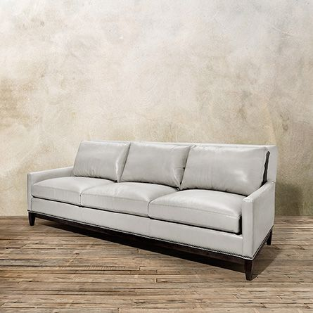 The Dante Leather Collection At Arhaus Gray Sofa Grey Couch