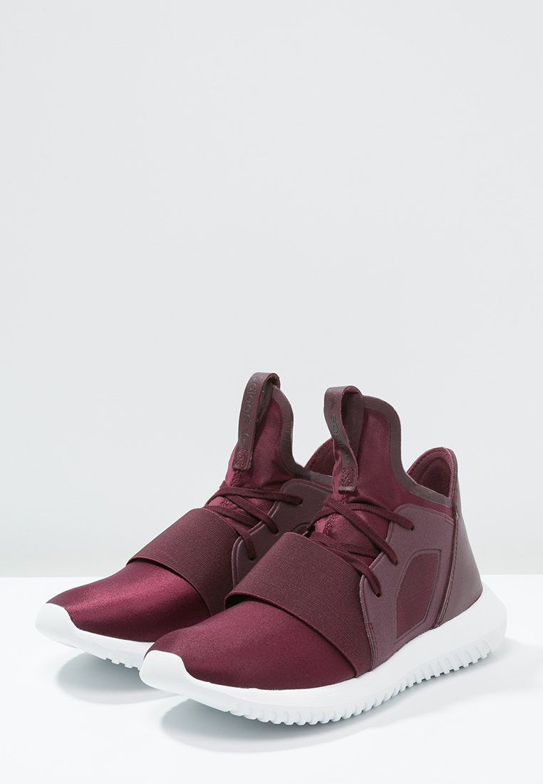Bestill adidas Originals TUBULAR DEFIANT - Høye joggesko - maroon/chalk  white for kr 1