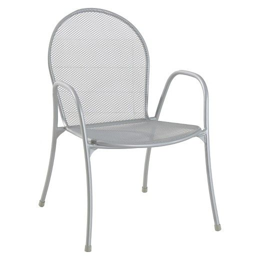 Carmack Metal Mesh Stack Patio Chair Silver Threshold Target