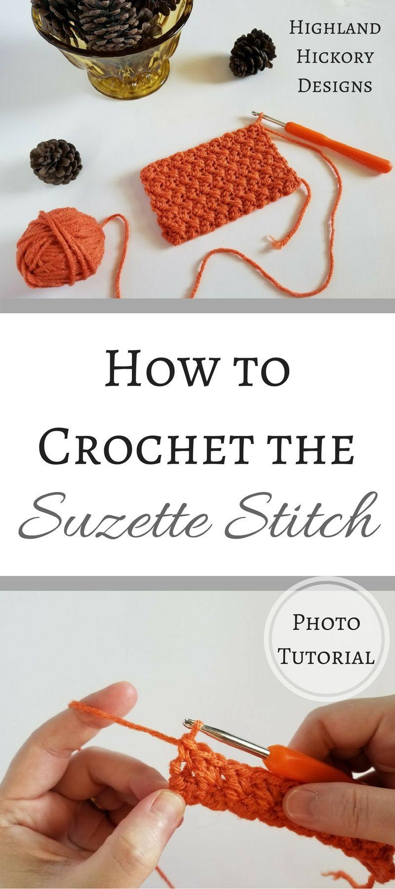How to Crochet the Suzette Stitch | crochet | Pinterest | Croché ...